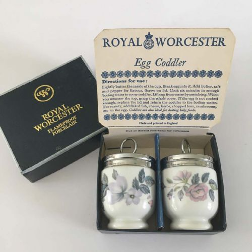 Royal Worcester - Egg Coddler x 2 - Boxed - June Garland